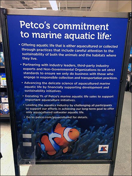 Petco Commitment To Marine Aquatic Life