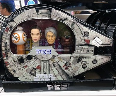 Millennium Falcon Star Wars Packaging for Pez