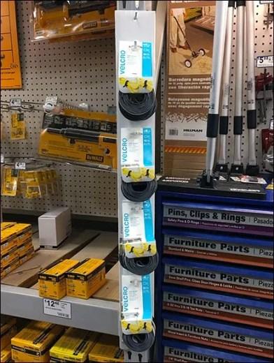 Velcro Fastener Hooked Strip Merchandiser