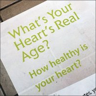 What's Your Real Age Mall Floor Graphic