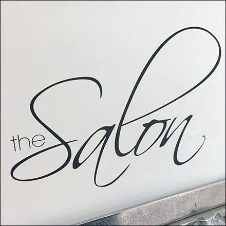Hairstyling Salon Store Fixtures - Salon Services Menu Sign At BonTon