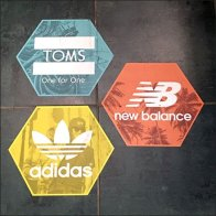 Branded Floor Graphics For Shoe Department Feature