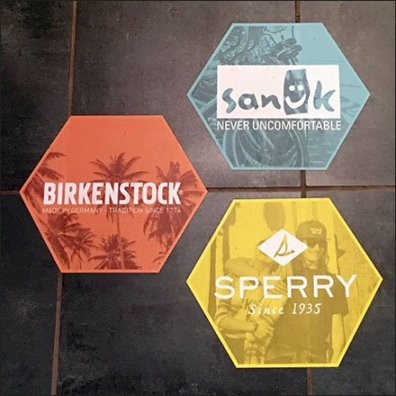 Branded Floor Graphics For Shoe Department