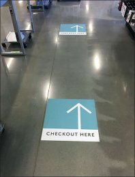 Checkout Here Floor Graphic Arrows 2