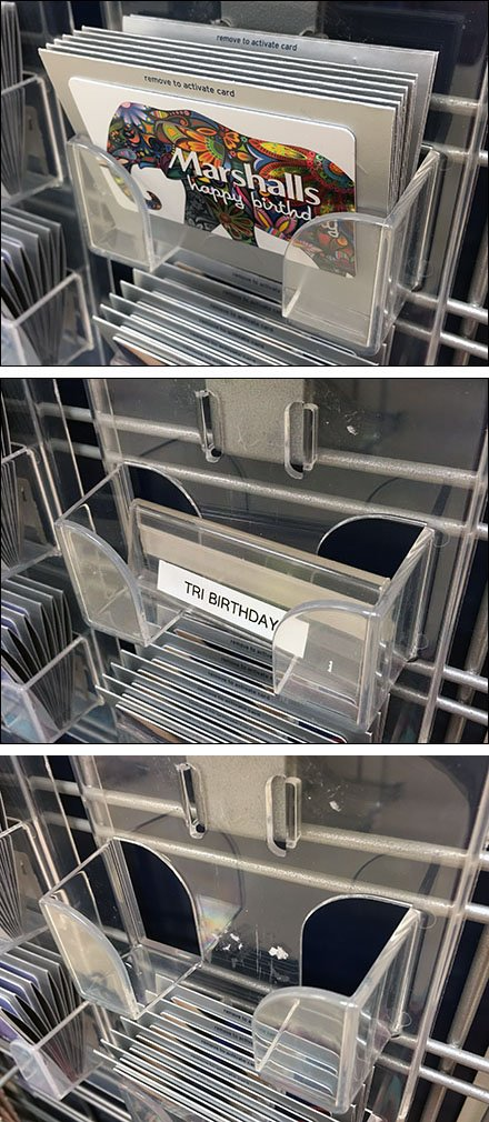 Clear Acrylic Tray Out-of-Stock Inserts