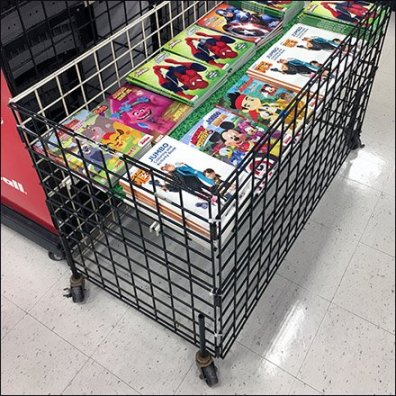 Coloring Book Bulk Bin Merchandising