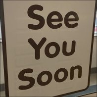 Dunkin Donuts See You Soon Goodbye Door Decal Feature