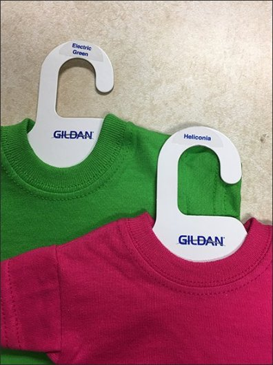 Miniature T-Shirt Samples On Clothes Hangers