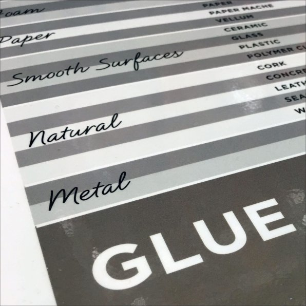 Glue Guide Brand and Benefit Breakdown Feature