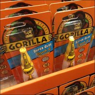 Gorilla Glue Brush And Nozzle In-Aisle Point-of-Purchase Feature