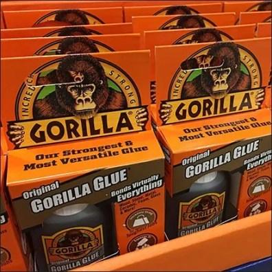 Gorilla Glue Original In-Aisle Point-of-Purchase Feature