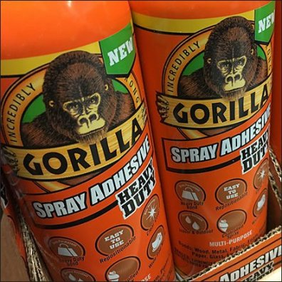 Gorilla Spray Adhesive In-Aisle Point-of-Purchase Feature
