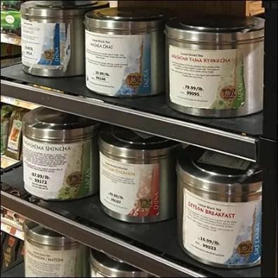 Loose Tea Canister Merchandising at Wegmans