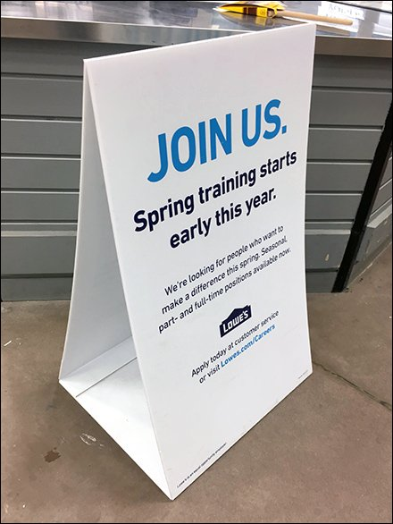 Early Spring Hiring Corrugated Plastic Sign