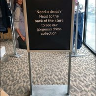 Need A Dress Directional Sign Strategy