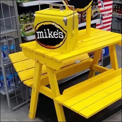 Yellow Picnic Bench Brands Mikes Hard Lemonade