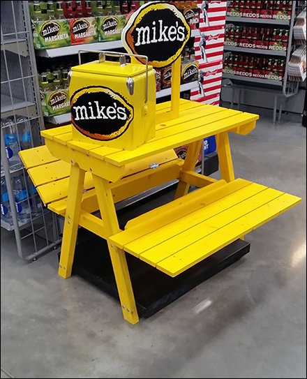 Yellow Picnic Bench Brands Mikes Hard Lemonade