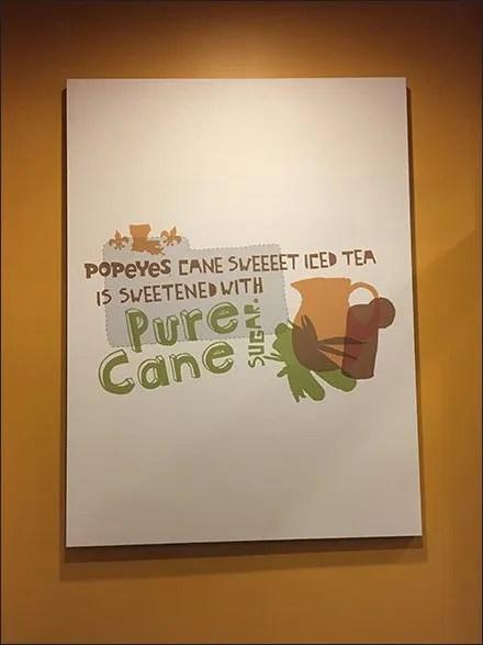 Popeyes Pure Cane Sugar Branded Art