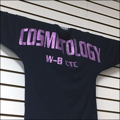 Sequins Cosmetology Sweatshirt Cross-Bar Hung