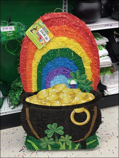 St. Patricks Day Pot of Gold Pinata