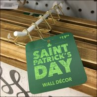 St.Patrick's Day Sale Tag At The Forefront