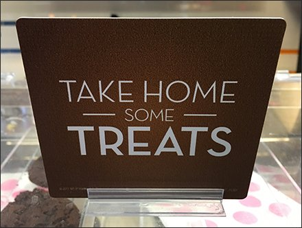 Take Home Some Treats Adhesive Sign Clip