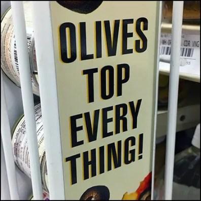Vertical C-Channel Sign Holder Promos Olives