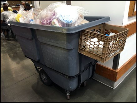 Waste Transport Cart Features Bolt-On Tote