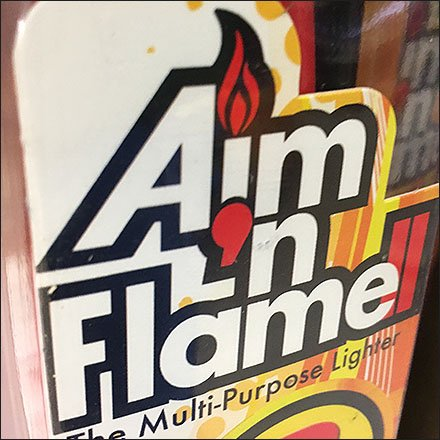 Scripto Aim N Flame Utility Lighter Display
