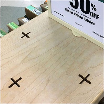 Cross-Slot Sign Plug-In For Display Top