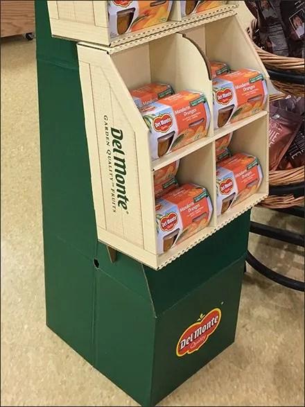 Del Monte Grab-N-Go Fruit Cup Display