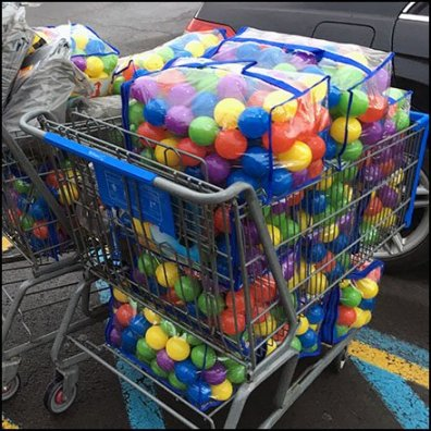 Do-It-Yourself Shopping Cart Ball Pit Square2