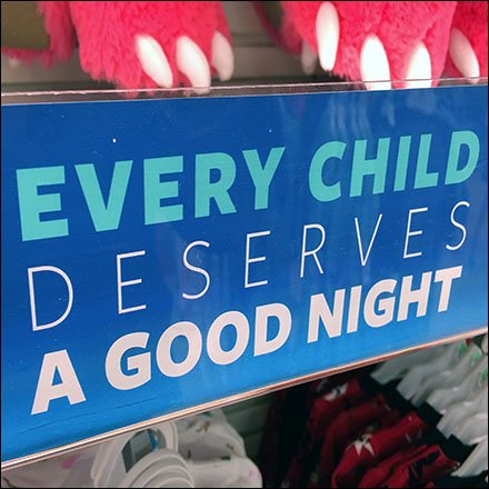 Donate PJs to Kids Shelf Talker Feature