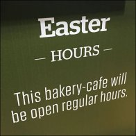 Easter Hours, Place Orders Early Feature