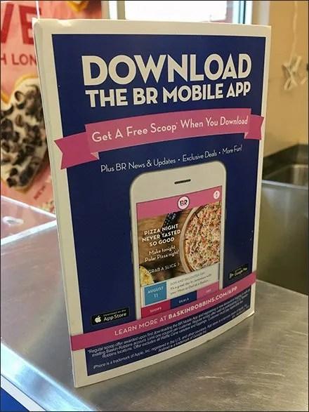 Free Ice Cream Mobile App Tri-Fold Promo
