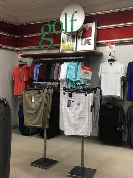 Forward Looking Golf Department Branding
