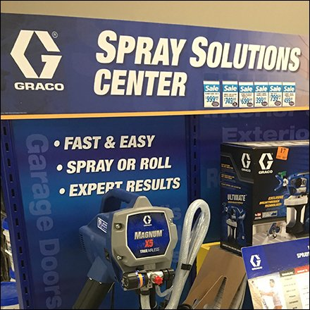 Graco Paint Sprayer Solutions Center Display Feature