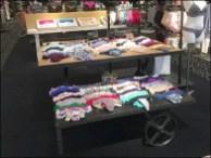 Wheeled Table Display by Hanky Panky Panty