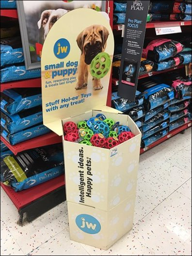 Bucky-Ball Corrugated Display by Hol-ee Pet