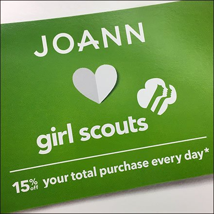 JoAnn Loves Girl Scouts Promotion