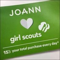 JoAnn Loves Girl Scouts Promotion
