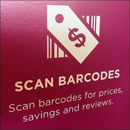 Kohls Mobile App Sign Says Scan Barcodes
