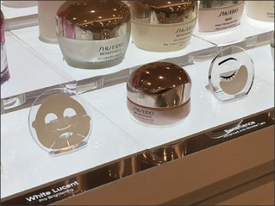 Micro Facial Masks Display in Cosmetics