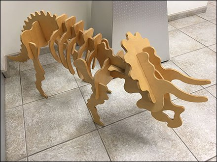 Triceratops Layup Model At Plywood Showroom