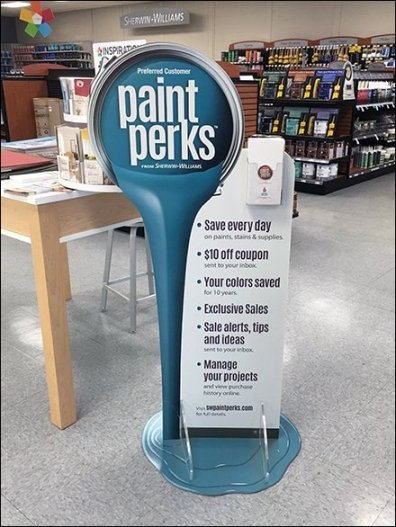 Paint Perks Freestanding Display Promotion 3
