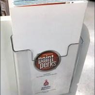 Paint Perks Promotion Freestanding Paint Spill