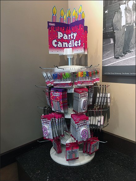 Party Candle Counter-Top Spinner With Hooks