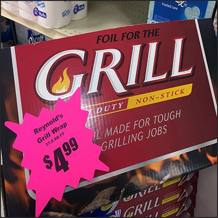Reynolds Wrap Grill-Like Display In-Aisle Feature