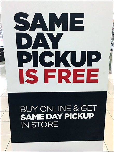 Same Day Pickup Is Free In-Store