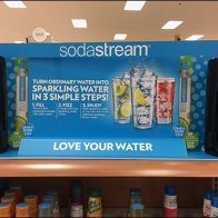 SodaStream On-Shelf Sparkling Water Display